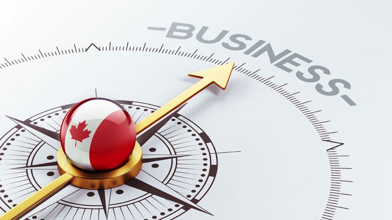 compass needle pointing to word business